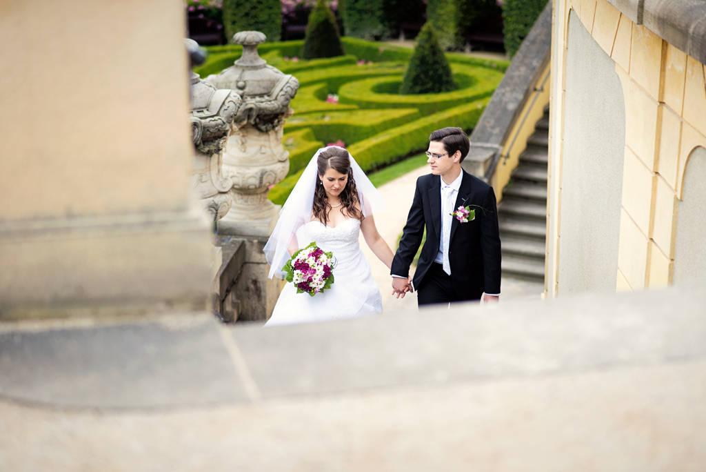 svatba Vrtbovská zahrada v Praze